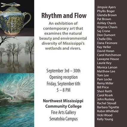 Rhythm and Flow Exhibition Postcard